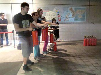留学生対象の防災訓練を行いました