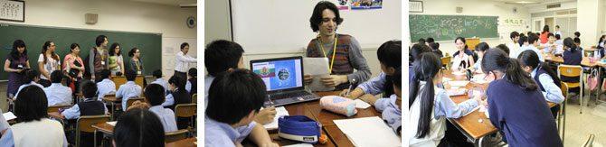 留学生が付属相模高校中等部生と「異文化交流会」を行いました