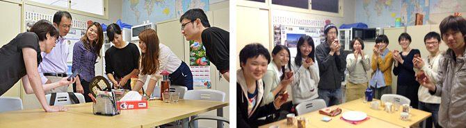 学生と教員が英語で交流する「イングリッシュ・カフェ」を開いています