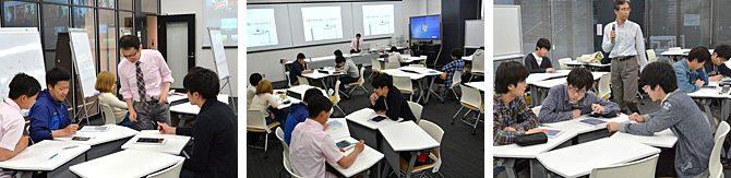 18号館の「サイエンス・フォーラム」で最新の情報通信技術を使った教育が始まっています