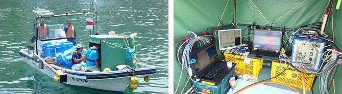 宮城県の女川湾で津波堆積物の共同調査を進めています