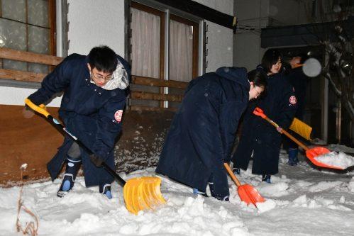 除雪活動の様子