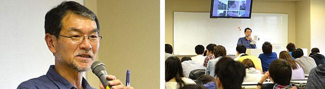 建築学科が平成26年度入門ゼミナール講演会第1回を開催しました