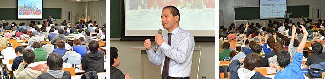 電気電子工学科が南極越冬隊に参加した教員による講義を行いました